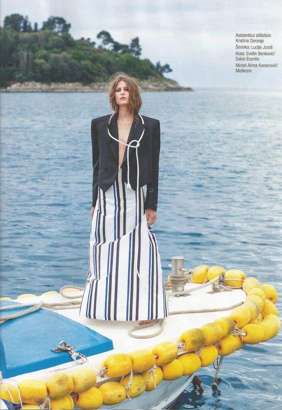 Midikennov model Alena Kananovic za magazin Gloria Glam