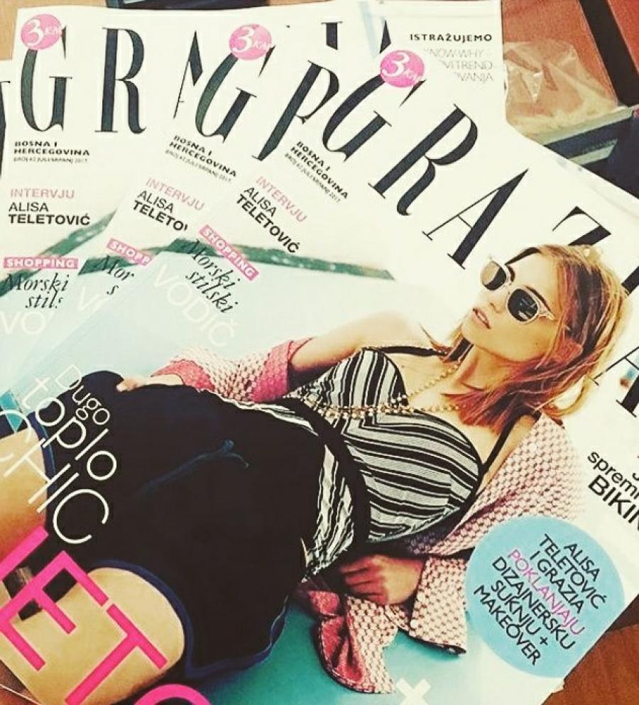 Midikennov model Ena Čuček na najnovijoj naslovnici magazina Grazia