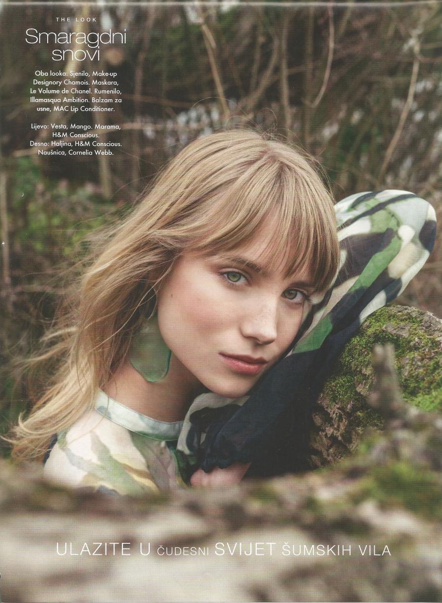 Midikennova prirodna ljepotica Ena Čuček za beauty editorijal magazina Elle Croatia