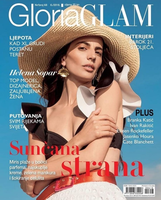 Midikennov top model Helena Šopar na naslovnici novog broja magazina Gloria Glam