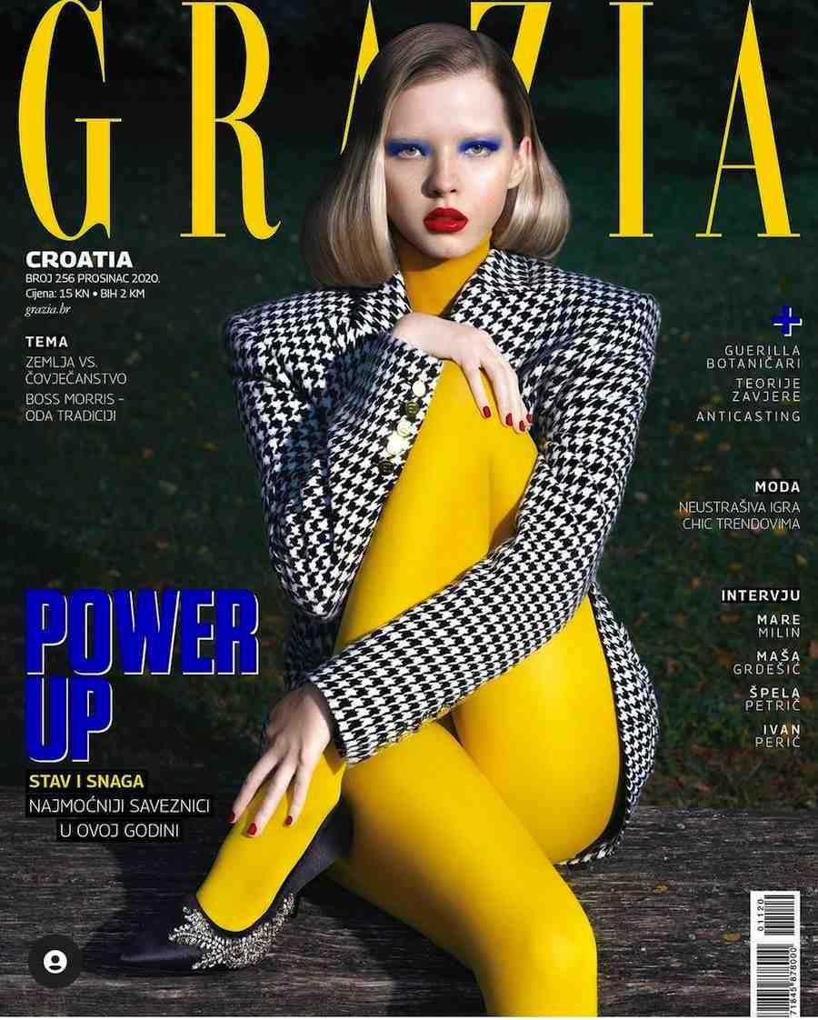 Midikennov model Andrea Jurić za najnoviju naslovnicu magazina Grazia