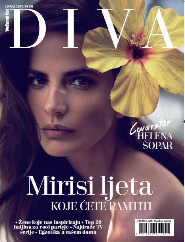 Midikennov top model Helena Šopar za naslovnicu magazina Diva