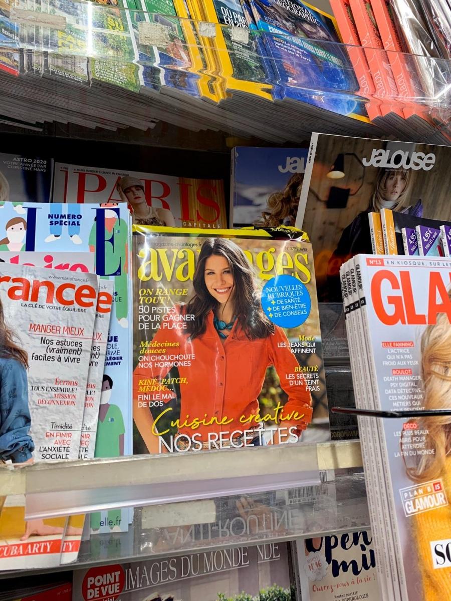 Alena Kananović na naslovnici magazina Avantages